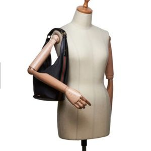 Gucci Black Denim Fabric Shoulder Bag